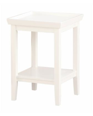 Ledgewood End Table in White - Convenience Concepts 501045W