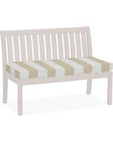 "Universal 48"" Banquette Bench Cushion, Sunbrella(R) Awning Stripe, Linen Sand"