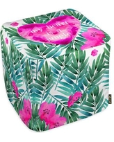 Oliver Gal Oliver Gal Home Jungle Heart Pouf 13333.ottoman_18x18_POL