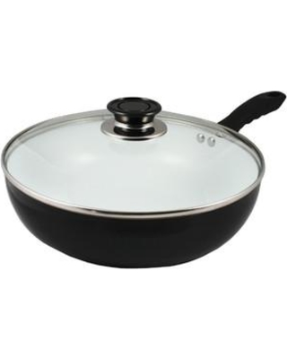 """Concord Cookware 11"""" Non-Stick Ceramic Deep Fry Pan Wok with Lid CW0271-28"""