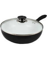 """Concord 11"""" Non-Stick Ceramic Deep Fry Pan Wok with Lid CW0271-28"""
