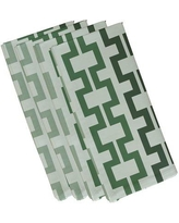 "e by design Cuff-Links Geometric Napkin N4GN123 Size: 19""W x 19""L Color: Green"