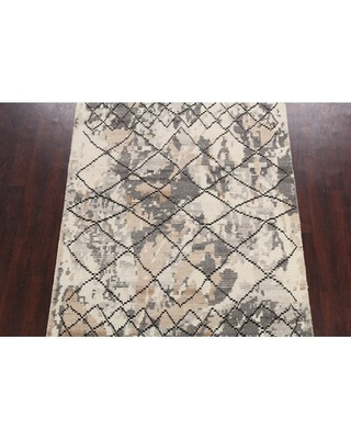 """One-of-a-Kind Ozias Hand-Knotted New Age 5'4"""" x 7'6"""" Wool Area Rug in Multi Color"""