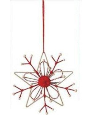 Shopping Special For The Holiday Aisle Country Rustic Snowflake Christmas Ornament Metal In Red Size 7 H X 7 W X 7 D Wayfair B6b16caf14f1406c93b8a545cdcff2f3