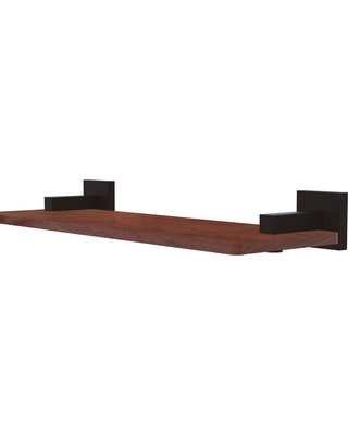 Allied Brass Montero Collection 16 in. Solid IPE Ironwood Shelf in Oil Rubbed Bronze