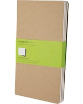 "Moleskine Cahier Journals, No Rule, 3pk, 240 sheets, 5.25"" x 8.25"" - Black, Multi-Colored"