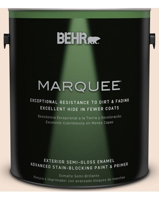 BEHR MARQUEE 1 gal. #270E-1 Orange Confection Semi-Gloss Enamel Exterior Paint and Primer in One