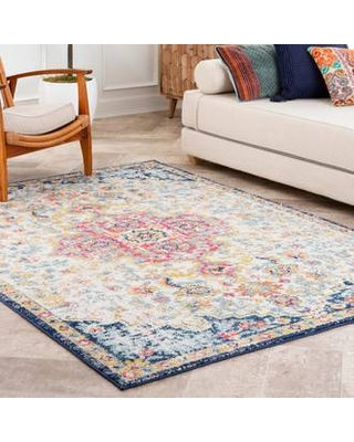 Rugs USA Beige Bayuda Floral Crowned Medallion rug - Transitional Rectangle 8' x 10'
