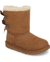 Girl's Ugg Bailey Bow Ii Water Resistant Genuine Shearling Boot, Size 6 M - Brown