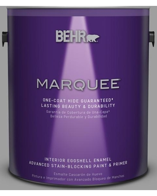 BEHR MARQUEE 1 gal. #PPU26-06 Elemental Gray Eggshell Enamel Interior Paint and Primer in One
