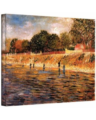 """14'' x 18'' ''Banks of the Seine"" Canvas Wall Art by Vincent van Gogh, Small"""