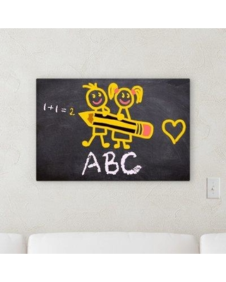 "Ebern Designs 'Back to School' Graphic Art Print on Canvas W000970098 Size: 16"" H x 48"" W x 2"" D"