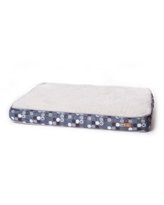 K and H Pet Products 30 in. x 40 in. x 4 in. Medium Gray/Paw Print Superior Orthopedic Bed