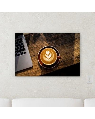 "Ebern Designs 'Coffee' Photographic Print on Canvas W000506308 Size: 30"" H x 30"" W x 2"" D"