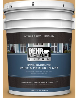 BEHR Premium Plus Ultra 5 gal. #MQ2-16 Summer in the City Satin Enamel Exterior Paint and Primer in One