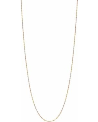 Two Tone 14k Gold Diamond-Cut Link Chain Necklace, Women's, Size: 18""