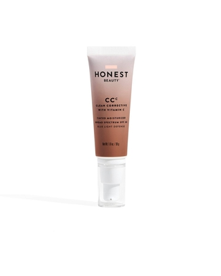 Honest Beauty Clean Corrective Tinted Moisturizer with Vitamin C and Blue Light Defense - Deep - SPF 30 - 1.0oz