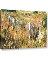 "Ebern Designs 'White Picket Fence H' Graphic Art Print EBND2034 Size: 36"" H x 48"" W x 2"" D, Format: Wrapped Canvas"