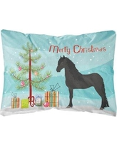 The Holiday Aisle Olmead Friesian Horse Christmas Indoor/Outdoor Throw Pillow BI148770