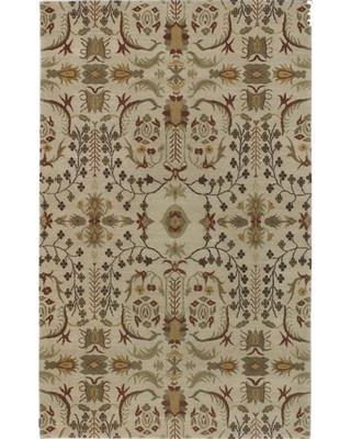 Bloomsbury Market Haynes Hand-Knotted Wool Beige Area Rug BBMT4976 Rug Size: Rectangle 2' x 3'