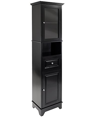Winsome Wood Alps Tall Cabinet with Glass Door and Drawer