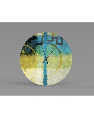 Remarkable Deals On Orren Ellis Oversized Omusa Wall Clock Metal In Gold Yellow Blue Size Small Wayfair 2f1ab06c500b461f8d6172aae0a6bf3b