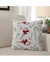 Big Deal On Debord Candy Cane Rudolph Throw Pillow The Holiday Aisle