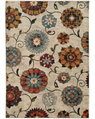 """Sierra Largescale Floral Area Rug (1'10"""" x 3')"""
