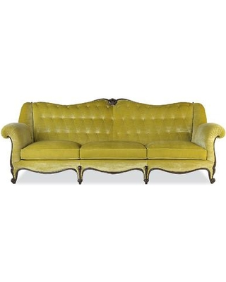 Annibale Colombo L'Excellence 3 Seater Sofa AC-A1521/3 - Upholstery Color: Yellow