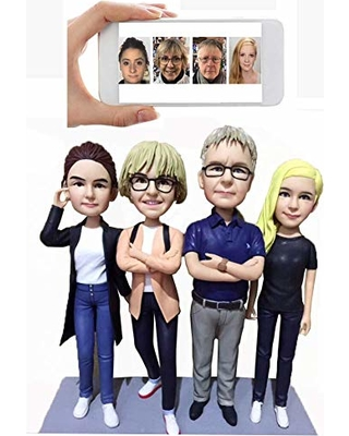 Personalized Family Bobblehead Custom Family Gifts Parents Gifts Family Sculpture Four peopleDHL Expedited  sc 1 st  Martha Stewart & Canu0027t Miss Deals on Personalized Family Bobblehead Custom Family ...
