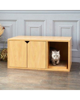 Tucker Murphy Pet Grinnell Litter Box Enclosure W001788439 Color: Natural