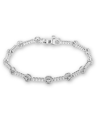 Diamond Bracelet 1/5 ct tw Round-cut Sterling Silver