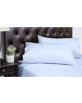 Alcott Hill Merrionette Organic Sateen 350 Thread Count 100% Cotton Sheet Set ALTH5081 Color: Arctic Ice, Size: Queen