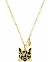 """""""Marvel's Black Panther Pendant Necklace, Women's, Size: 18"""", Yellow"""""""