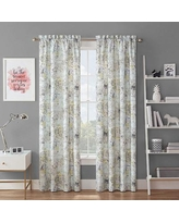 Waverly Spree Mapped Out Blackout Window Curtain, Multicolor, 42X63