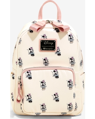 cf023f0a1914 New Deal Alert! Loungefly Disney Minnie Mouse Satin Mini Backpack