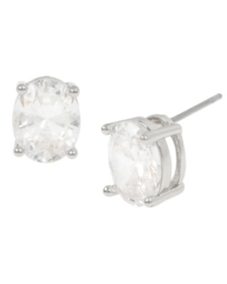 Jessica Simpson Cubic Zirconia Oval Stone Stud Earrings