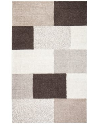 Tiled Hand-Woven Brown Area Rug Gracie Oaks Rug Size: Rectangle 9' x 12'