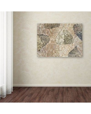 """Winston Porter 'Autumn Leaves Birch' Graphic Art Print on Wrapped Canvas WNPO1685 Size: 35"""" H x 47"""" W"""