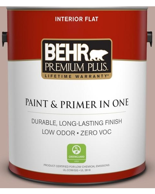 BEHR Premium Plus 1 gal. #pwl-88 Heavenly Cocoa Flat Low Odor Interior Paint and Primer in One
