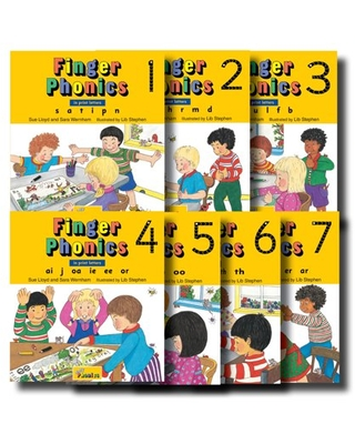 Finger Phonics, Books 1-7: In Print Letters (Board Book)