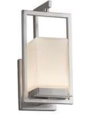 Justice Design Group Fusion 12 Inch LED Wall Sconce - FSN-7511W-OPAL-NCKL