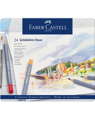 Faber-Castell 24ct Goldfaber Watercolor Pencil Tin