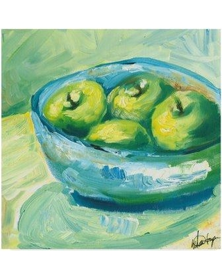 "Winston Porter 'Bowl of Fruit II' Acrylic Painting Print on Wrapped Canvas WNPO4395 Size: 24"" H x 24"" W x 2"" D"
