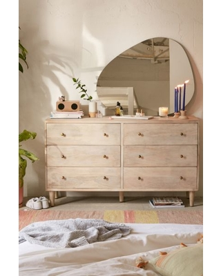Amelia 6-Drawer Dresser - White at Urban Outfitters