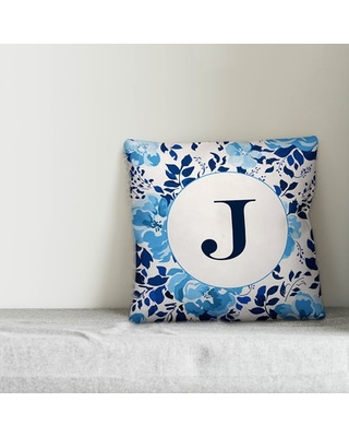 Brandeis Monogram Personalized Outdoor Throw Pillow Ebern Designs Customize: Yes
