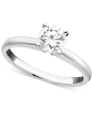 Engagement Ring, Certified Colorless Diamond (1/2 ct. t.w.) and 18k White Gold