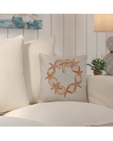 "Beachcrest Home Decorative Holiday Geometric Print Throw Pillow SEHO5916 Size: 18"" H x 18"" W, Color: Coral"