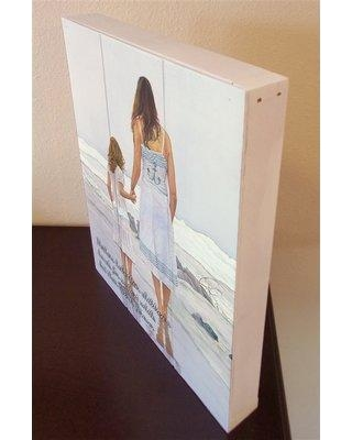 """Highland Dunes 'Tides That Bind - Mothers Hold Their Child's' Graphic Art Print on Wood HLDS5480 Size: 20"""" H x 16"""" W"""