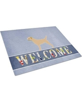 Caroline's Treasures Welcome Dog Glass Border Terrier Cutting Board BB5493LCB